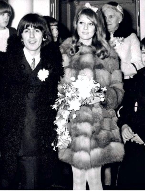 GIRL FRIDAY     PATTIE BOYD S WEDDING MINK RULES     George Harrison And Pattie Boyd Wedding