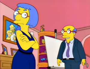 Milhouse Divided Area man visually defines lost concept through ironic failure to do so