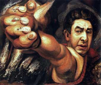 Cart n pintado peligra la exhibici n del mural de siqueiros for El mural de siqueiros en argentina