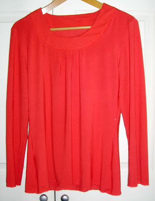 Amber Glow Orange Scoop neck top