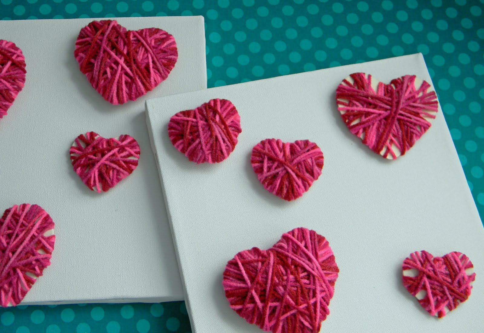 Valentine's Day crafts with the kids.