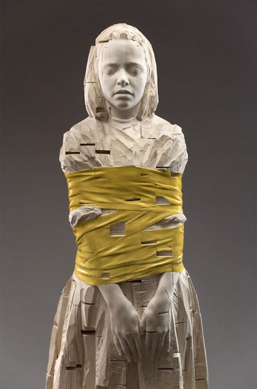 Gehard Demetz - sculptures sur bois B