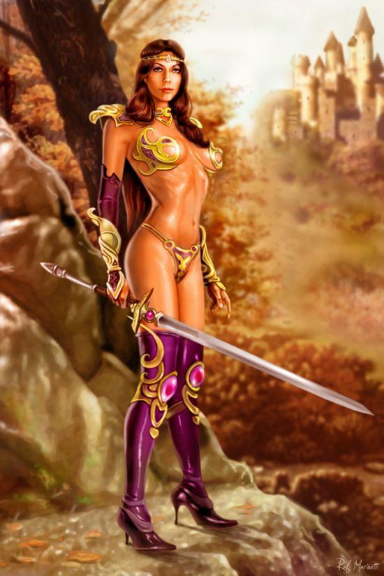Wallpaper most stylish women warriors in digital arts - Fantasy female warrior artwork ...