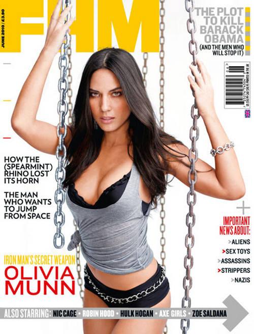 olivia munn fhm magazine