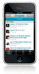Foursquare iPhone app