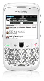 Foursquare Blackberry app