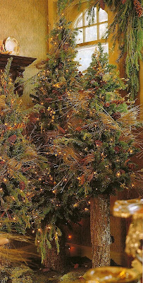 woodland holiday style natural and twiggy christmas trees