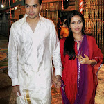 Soundarya Rajinikanth & Ashwin spoted at Tirumala