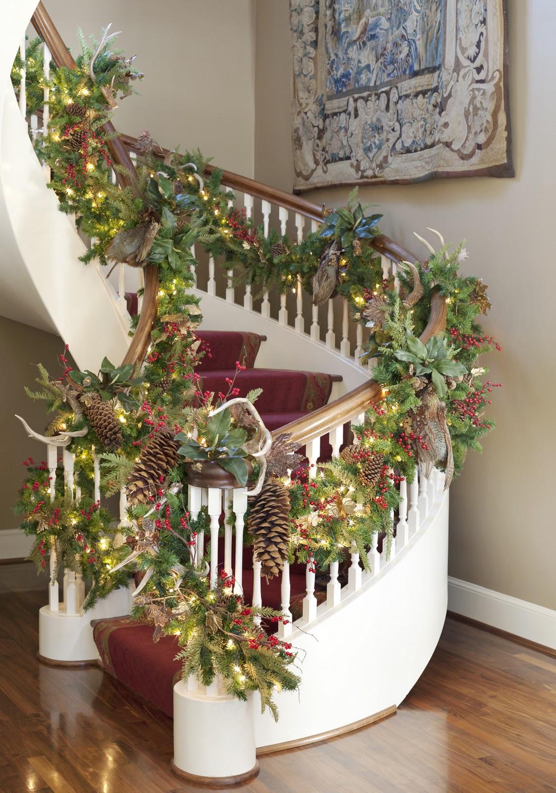 Mere julehus inspirasjon interior heaven for Adornos navidenos para escaleras