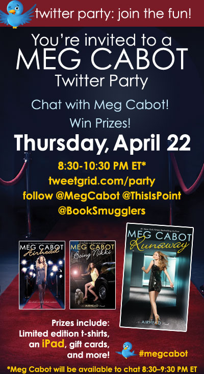 Also, be sure to swing by the official Twitter party! Here are the details: