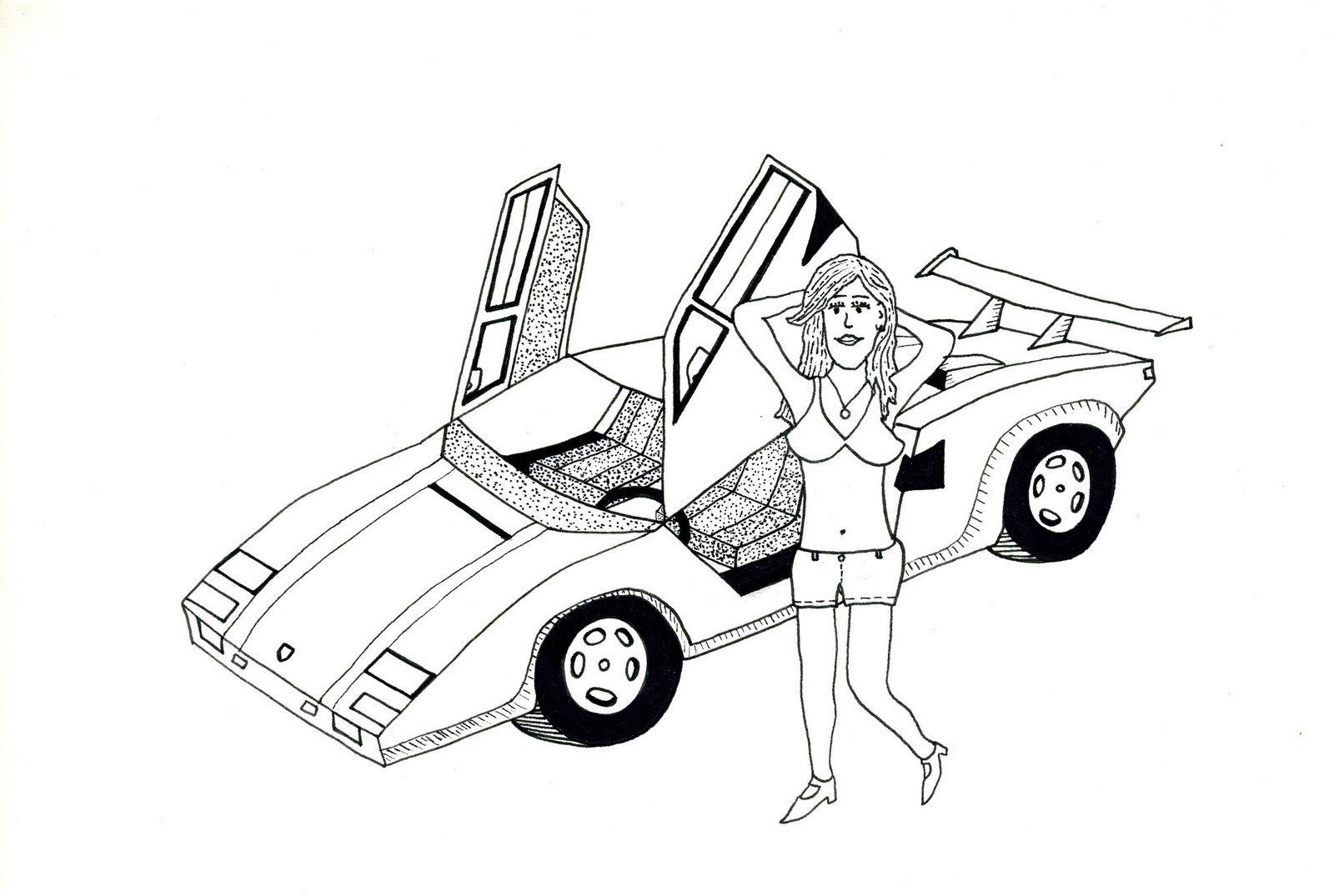 free coloring pages of lamborghini countach. Black Bedroom Furniture Sets. Home Design Ideas