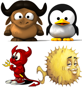 GNU Linux, FreeBSD, OpenBSD
