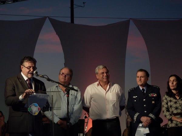 Palanque de promoção do Planetário, telescópio e Homenagem a Casimiro Montenegro