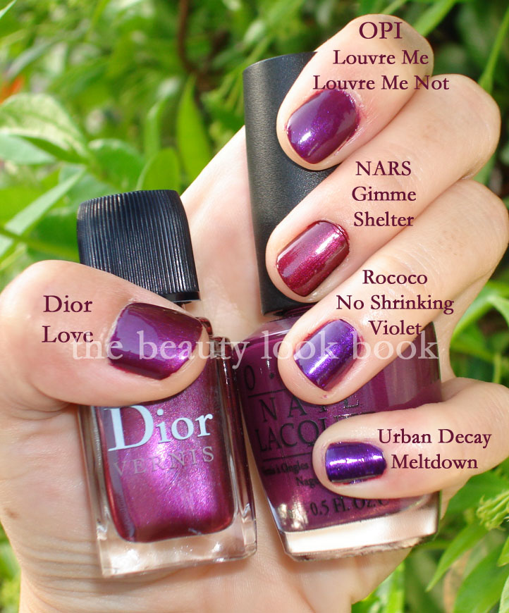 The remaining colors aren\u0027t necessarily dupes, but just colors in the same  color family so you can gauge how purple/burgandy/fuschia/bright Dior Love  is