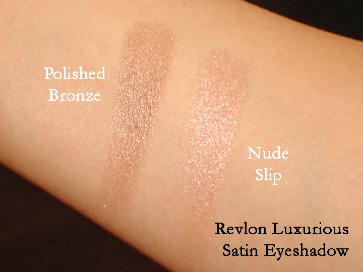 revlon luxurious color satin eyeshadows  polished bronze