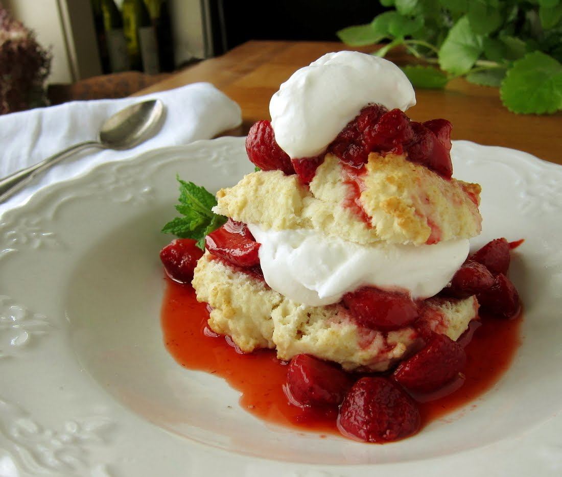 ... call for corn: old-fashioned strawberry shortcake with drop biscuits