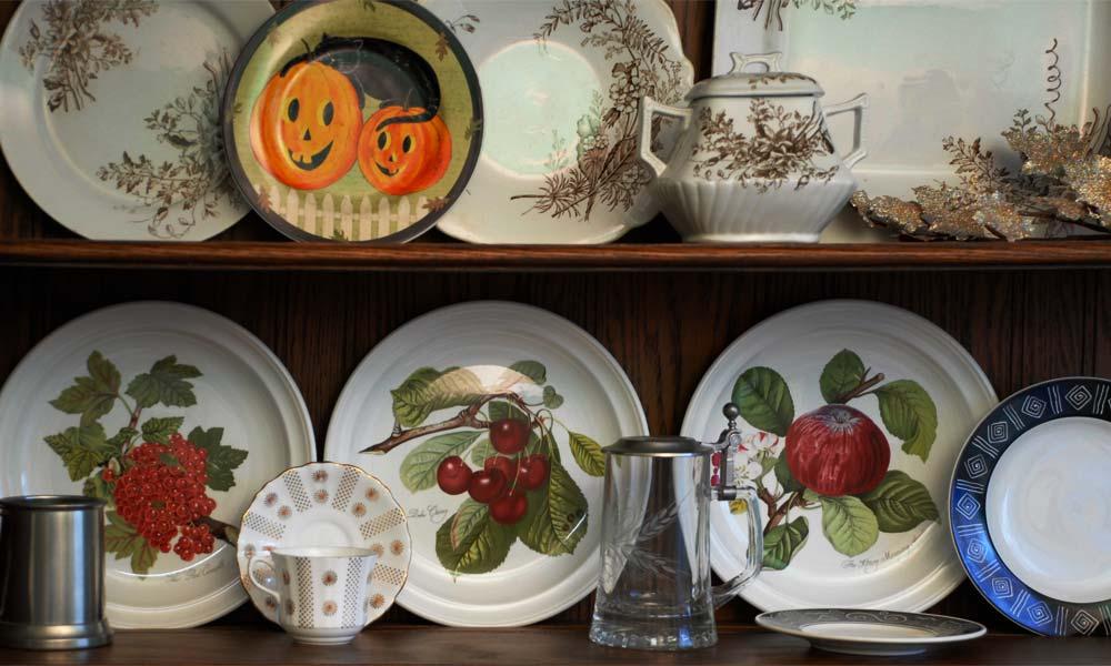 Welsh Dresser Halloween China cabinet hutch display