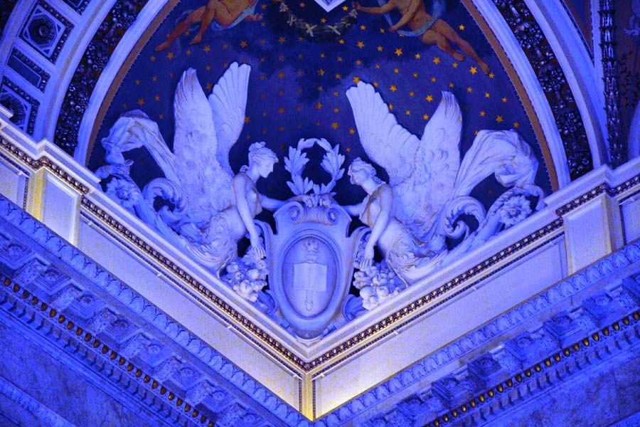 Library of Congress ceiling Angels