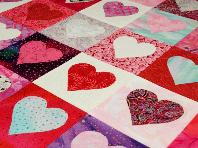 Valentine heart quilt by Jeanne Selep Imaging