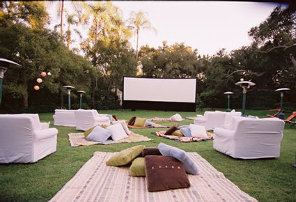 outdoor birthday party movie night party invitations ideas