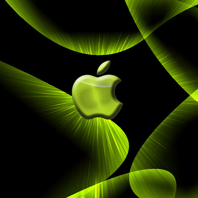 Apple - green logo download free wallpapers for iPad