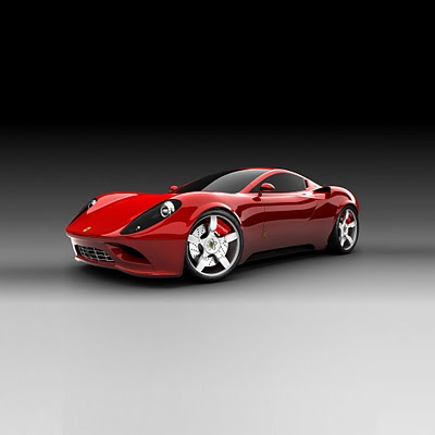 Red Ferrari download free wallpapers for Apple iPad