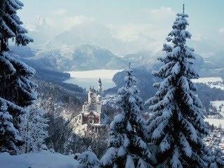 Snijeg i zima u Bavarskoj, Njemačka download besplatne pozadine slike za mobitele