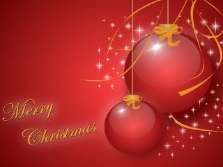 Merry Christmas, Božićna čestitka, baloni download besplatne pozadine slike za mobitele