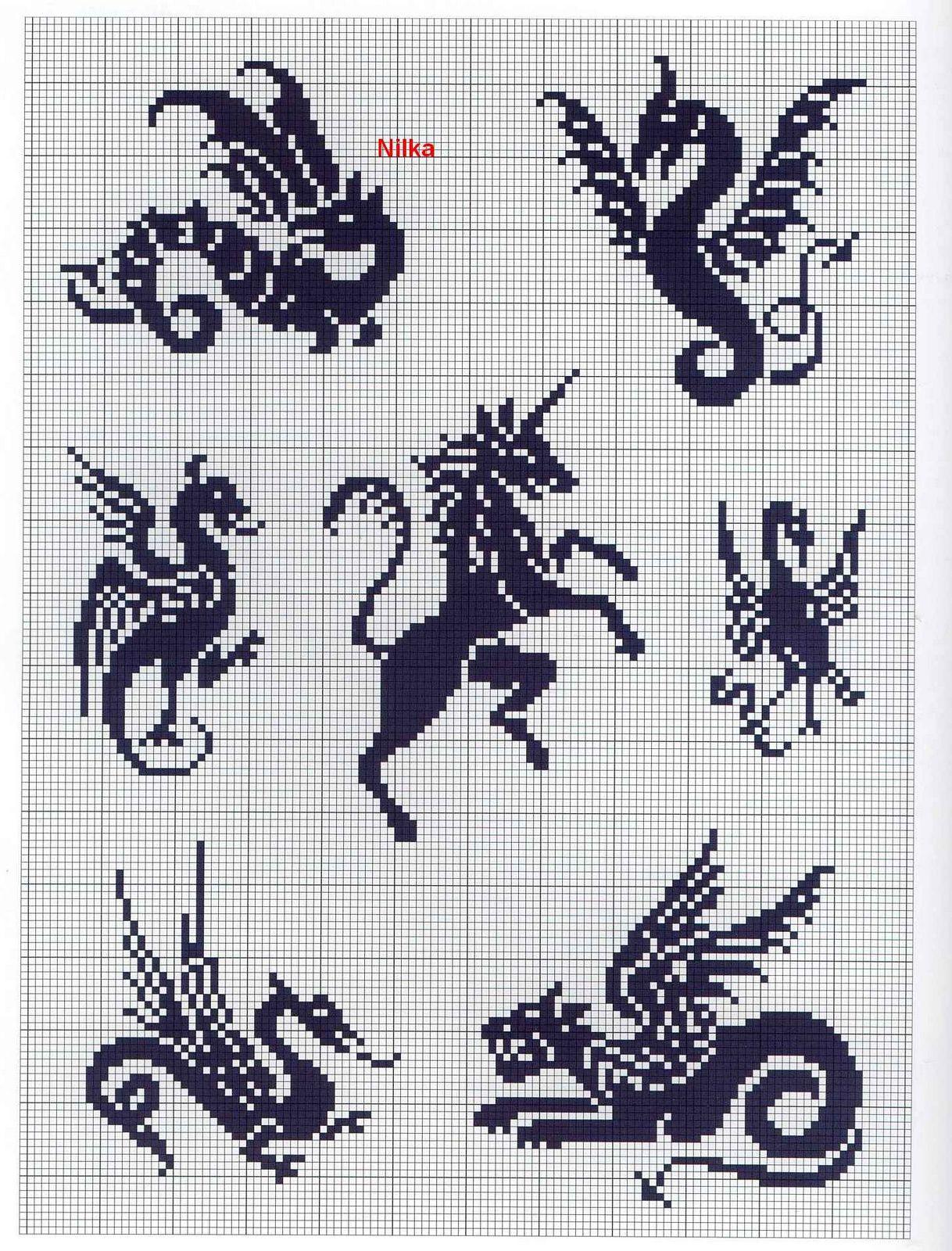 Дракон схема для вышивки бисером 15