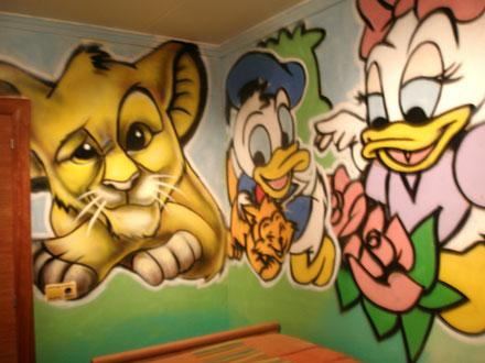 Berok graffiti mural profesional en barcelona murales infantiles - Murales para ninas ...