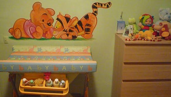 Dibujos para decorar paredes infantiles este mtodo de for Cuarto winnie pooh