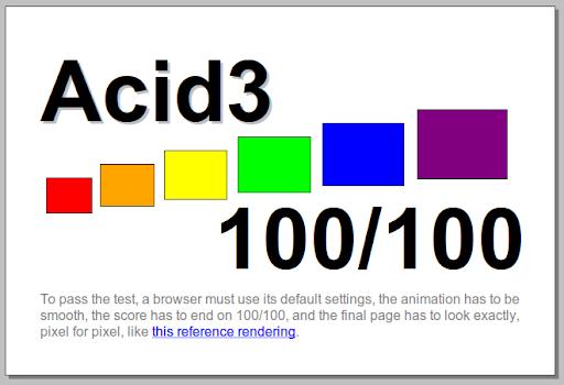 Opera 10.60 Acid3 Test
