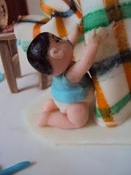 Bebê em massa elástica