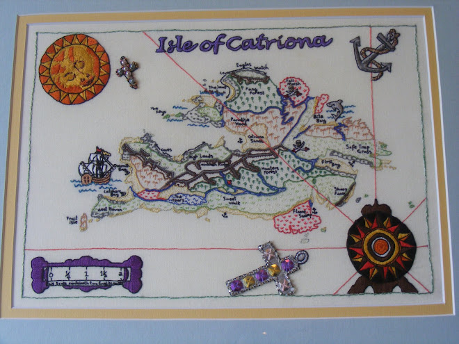 Embroidery Pirate Map