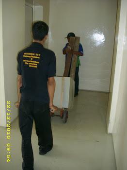 Pindahan brandkas chubb di Apartement Darmawangasa lt.16 dibawa ke Sampurna Strategic lt.29
