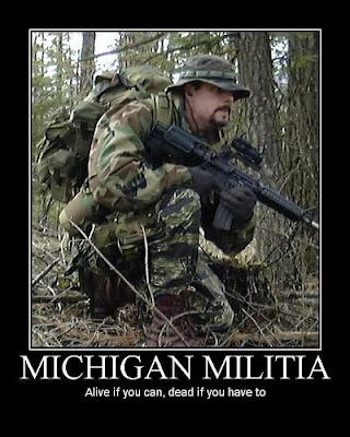 Michigan militia poster