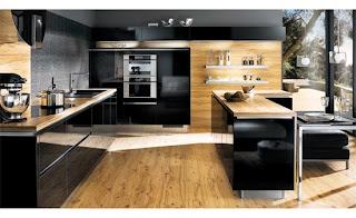 Dise o y decoraci n de cocinas cocinas negras como for Cocinas modernas negras con rojo