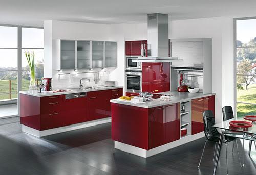 DiseÑo y decoraciÓn de cocinas: cocinas rojas, apuesta por lo fuerte.