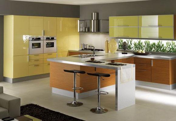 Dise o y decoraci n de cocinas colorterapia para tu cocina - Cocinas amarillas ...