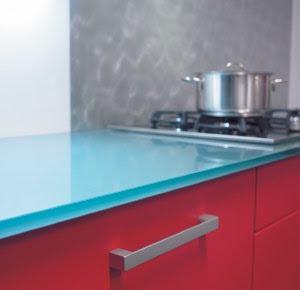 Dise o y decoraci n de cocinas encimeras por encima de - Encimeras de cocina de cristal ...