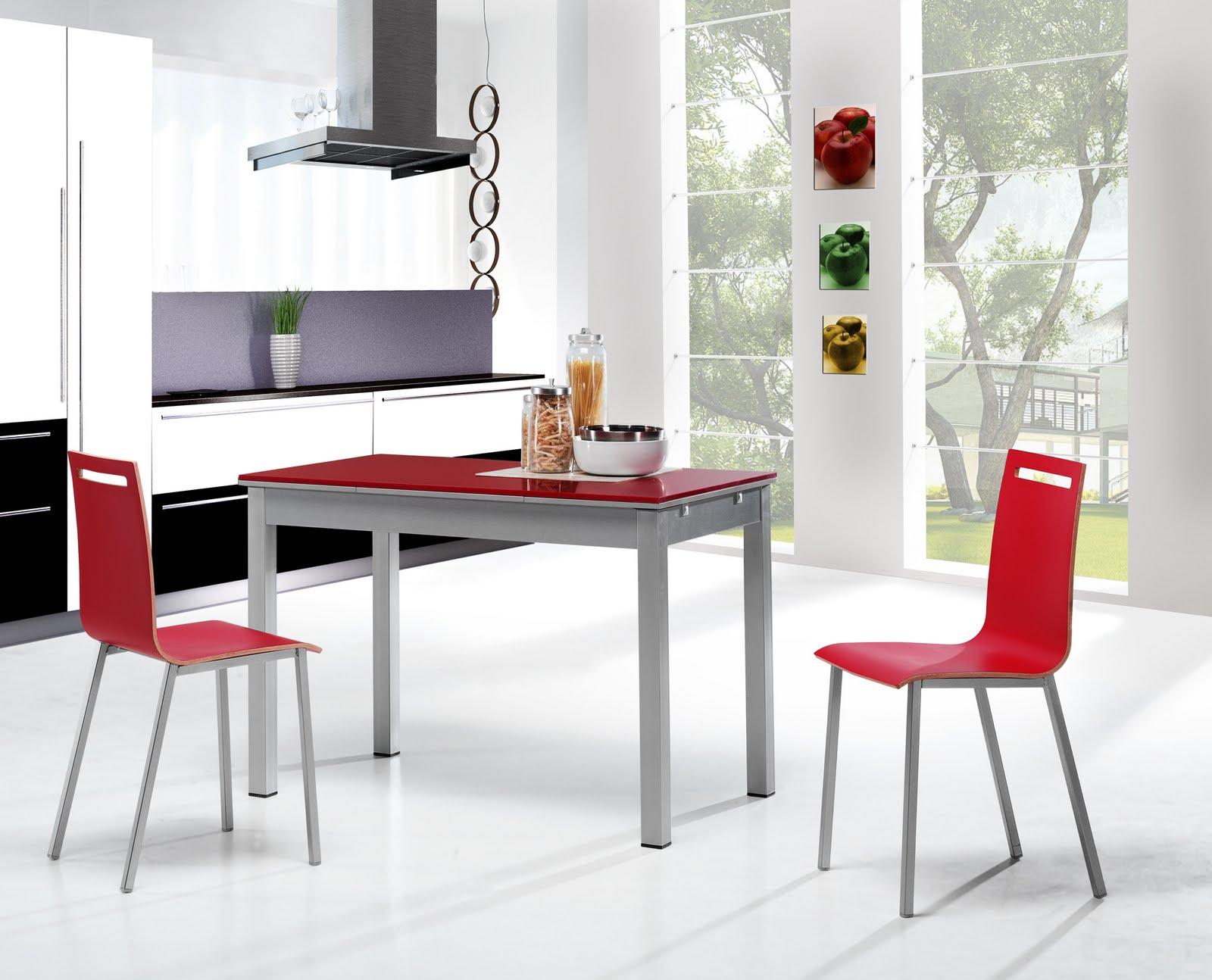 Dise o y decoraci n de cocinas novedades en sillas y mesas de la marca holcar - Conforama mesas y sillas ...