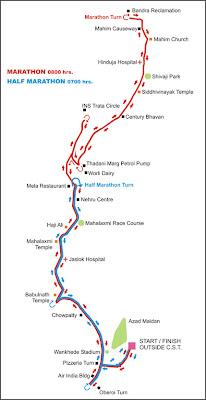 Mumbai Marathon Map