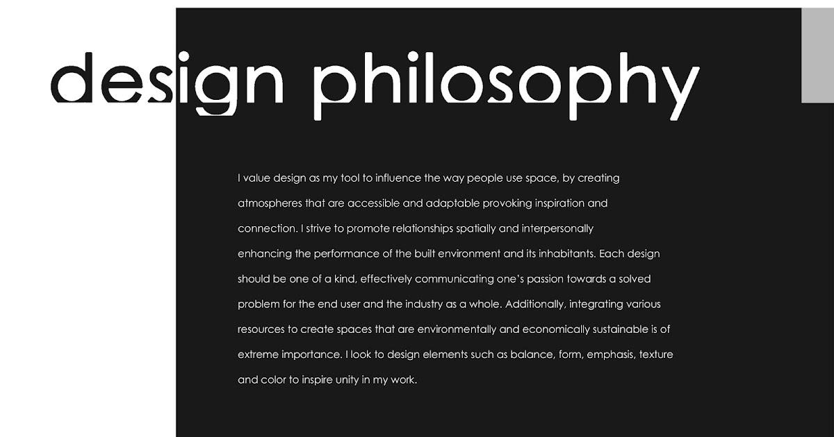 Leslie Stephan Design Portfolio: My Design Philosophy