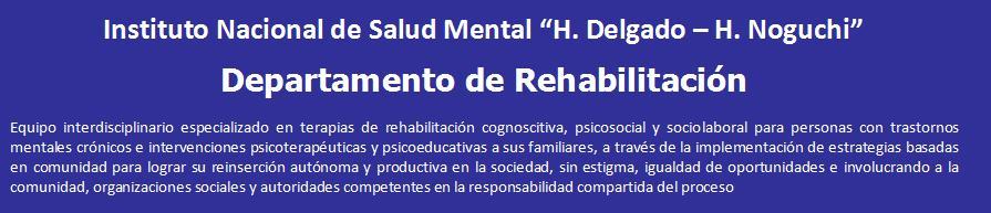 Departamento de Rehabilitación INSM HD-HN