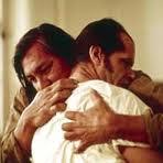 Bromden Hugging McMurphy