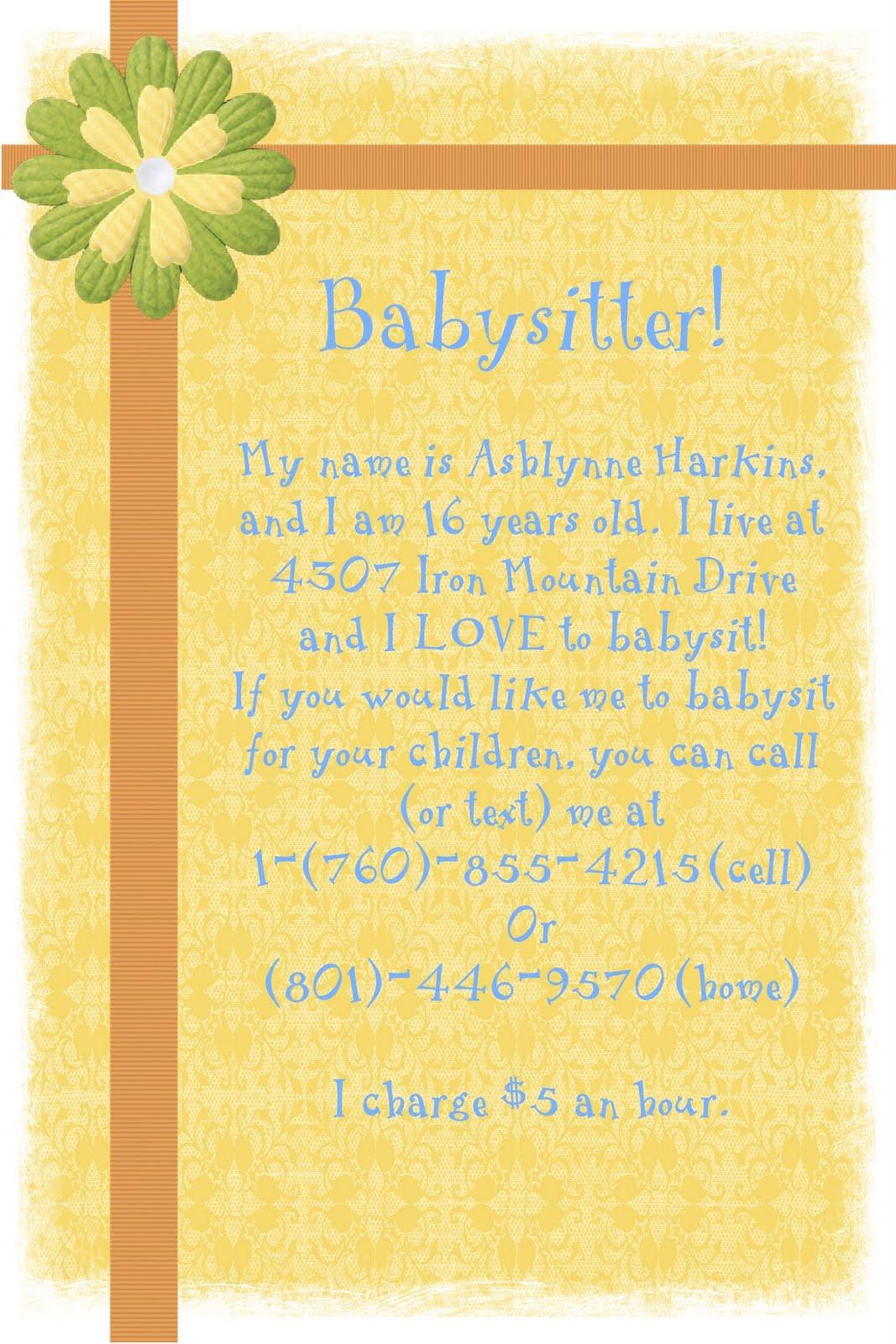 babysitting flier dhavvied cf babysitting flyer template microsoft word