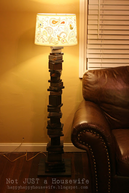 10 My scrap wood lamp with hand painted shade