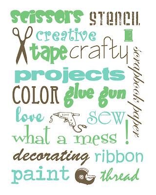 craftprintable3 FREE Craft Room Printables