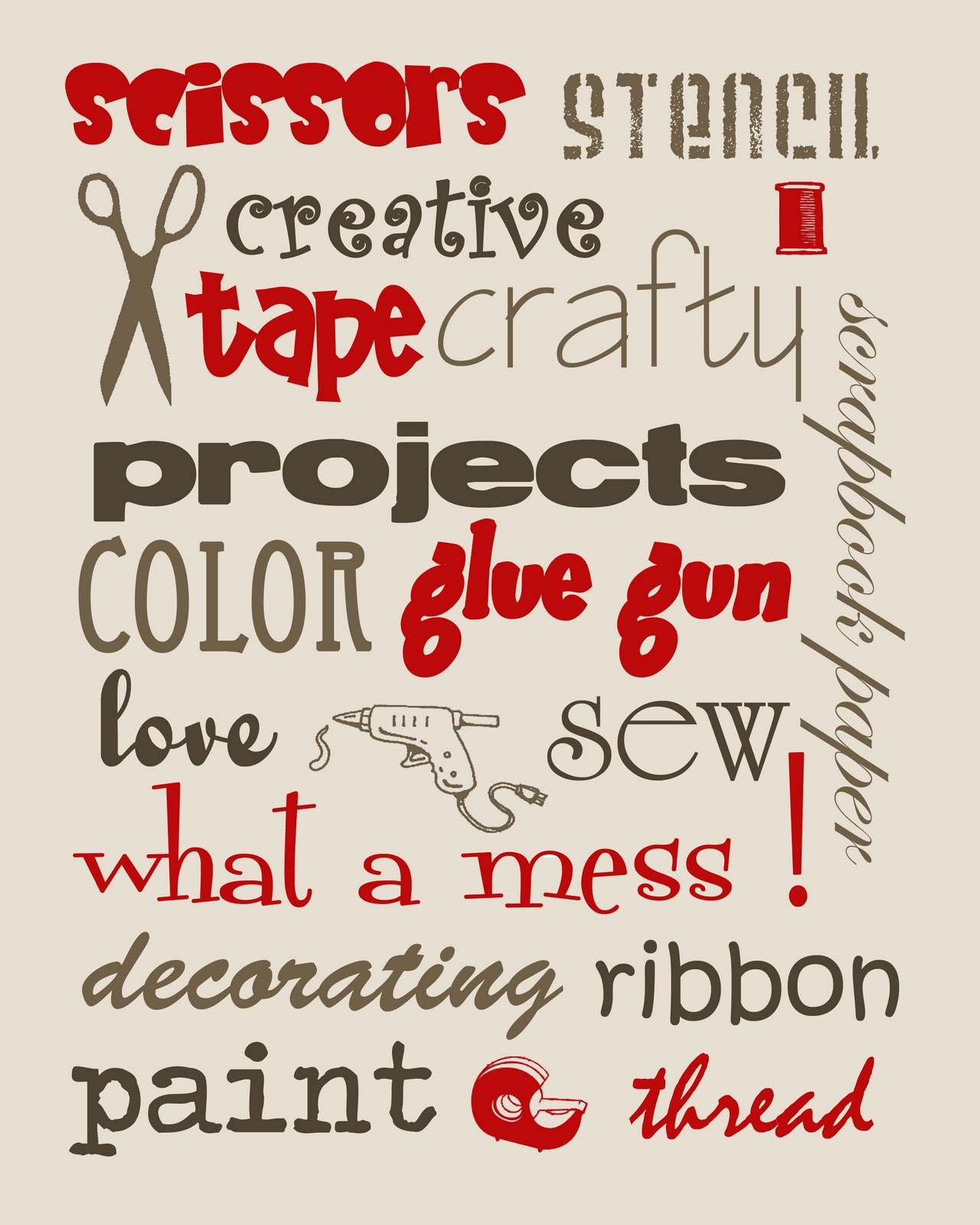 FREE Craft Room Printables - Stacy Risenmay