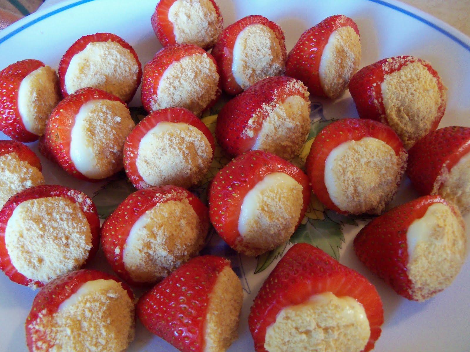 Please Don't Burnette!: Strawberry Cheesecake Bites